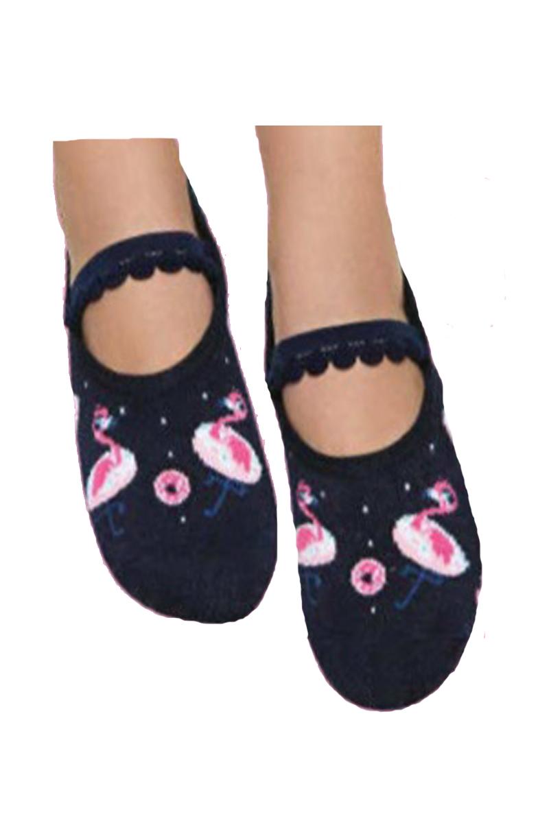 d5774b058 meia Sapatilha com antiderrapante Puket flamingo Preta